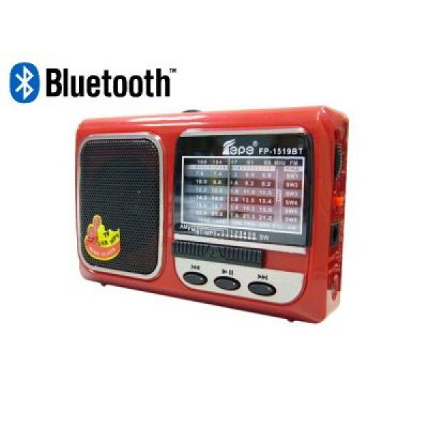 Радиоприемник mp3 на аккумуляторе 1519 Bluetooth