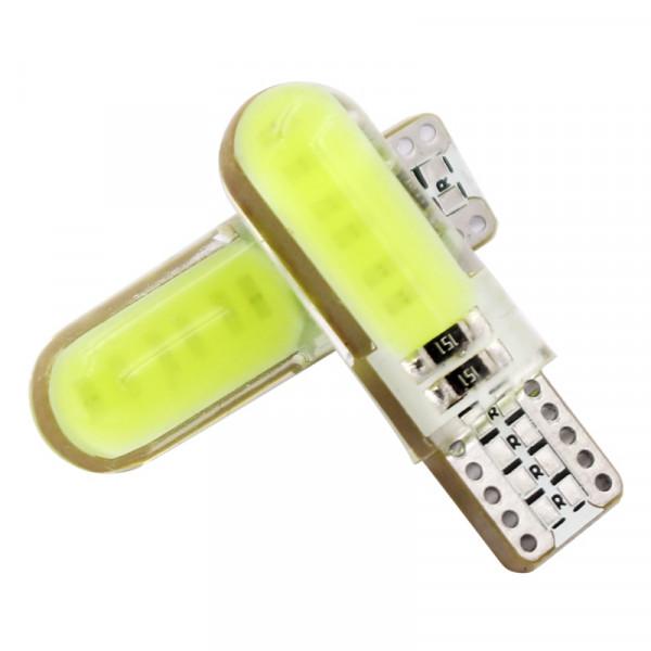Лампы светодиодные в силиконе Т10 cob 2cl, 2шт