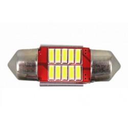 Светодиодная лампа 10 smd 4014 мощная, 31мм, белый