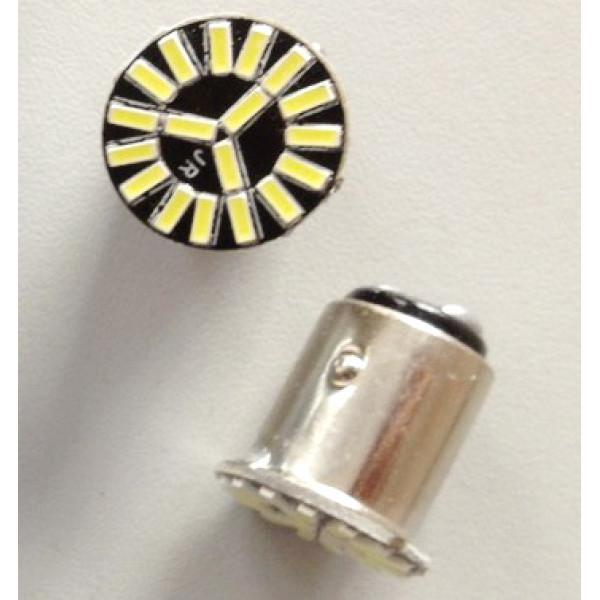 Лампы светодиодные BAY15D (2 контакта) 18smd (поворот, стоп сигнал), 2шт