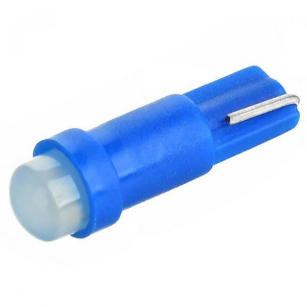 Лампа светодиодная Т5 1cob в панель приборов/ Синий