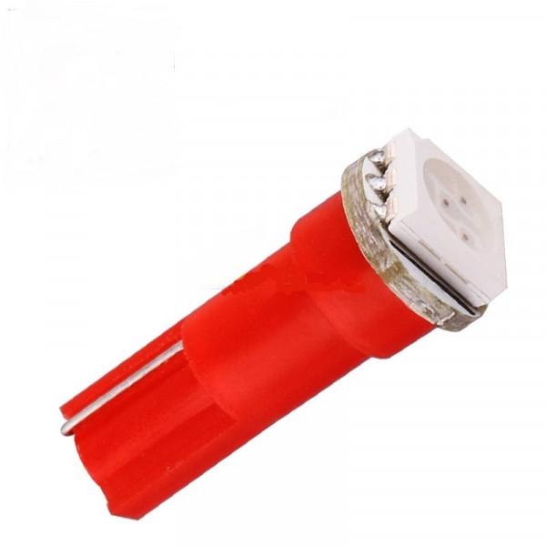 Лампа светодиодная Т5 1smd5050 в панель приборов/красный