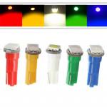 Лампа светодиодная Т5 1smd5050 в панель приборов/белый