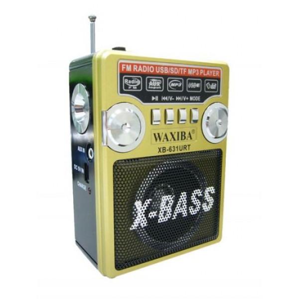 Радиоприемник mp3 на аккумуляторе + фонарик 631URT