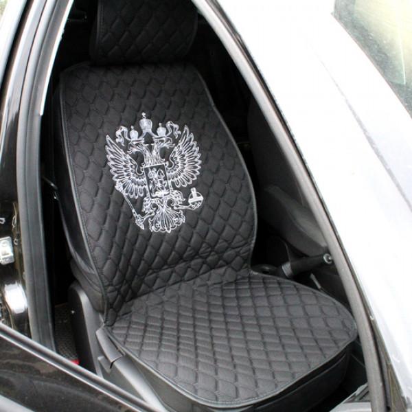 Комплект авточехлов из льна, вышивка Герб