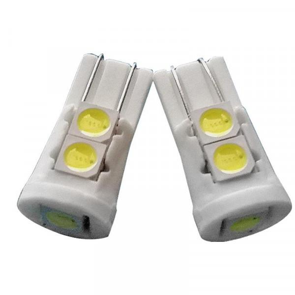 Лампы светодиодные керамический корпус 5smd5050, Т10, 2шт