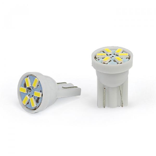 Лампы светодиодные Т10, 6smd1210, 2шт