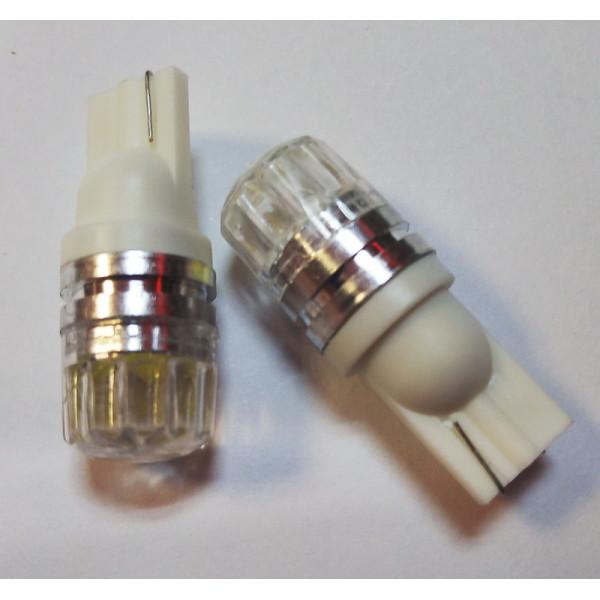 Лампы светодиодные с линзой, Т10, 2шт
