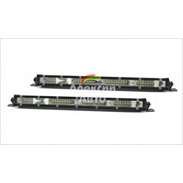 LED фары 108w, цвет белый, узкие 2шт