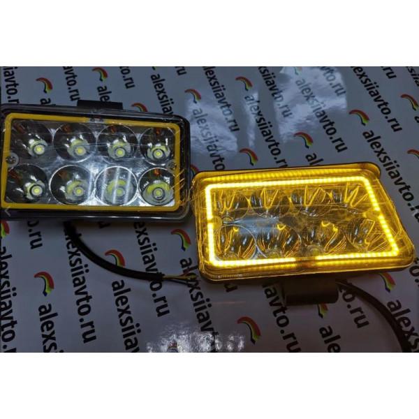 Светодиодные фары с повторителем поворота, 24W, 2шт