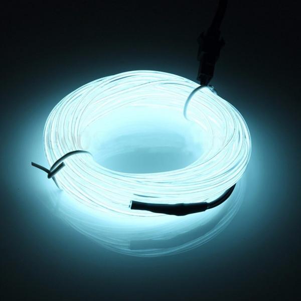 Неоновый шнур для подсветки салона, белый 2м