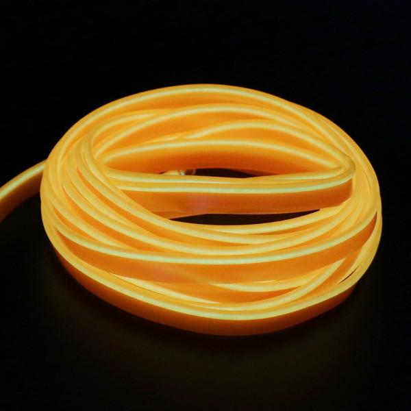Неоновый шнур для подсветки салона, желтый 2м