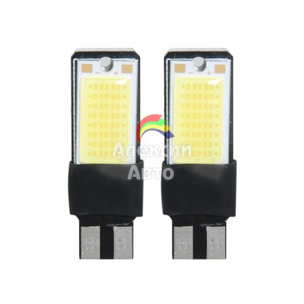 Лампы светодиодные Т10, 2cob, 2шт