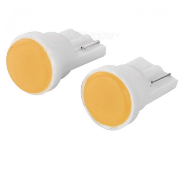 Лампы светодиодные Т10, 1cob желтый, 2шт